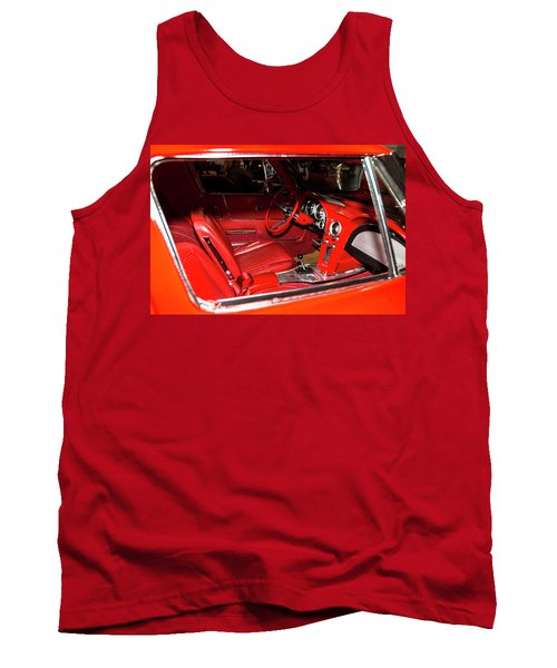 Red Corvette Stingray Tank Top