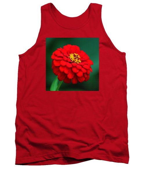 Red Dahlia In Pastel Tank Top