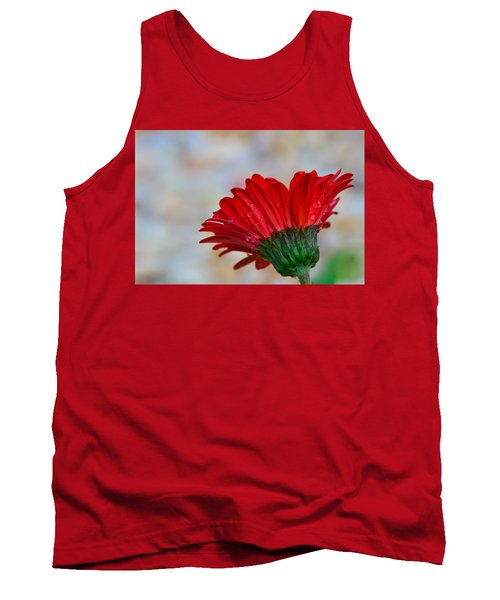 Red Daisy  Tank Top by John Harding