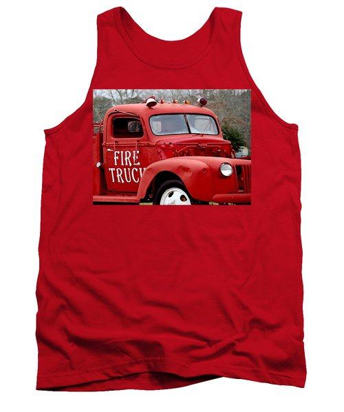 Red Fire Truck Tank Top