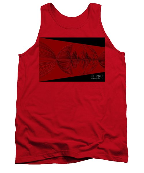 Red And Black Design. Art Tank Top