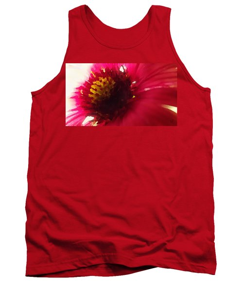 Red Flower Abstract Tank Top