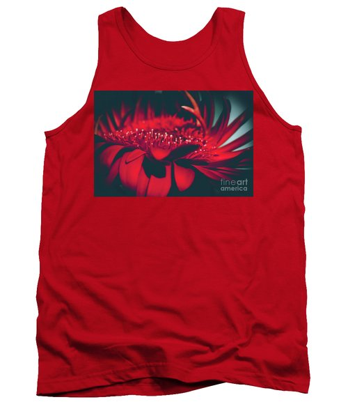 Red Flowers Parametric Tank Top by Sharon Mau