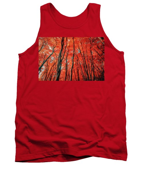 Red Forest Of Sunlight Tank Top