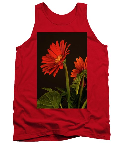 Red Gerbera Daisy 1 Tank Top by Richard Rizzo