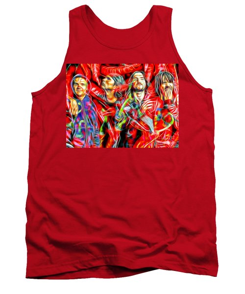 Red Hot Chili Peppers In Color II  Tank Top by Daniel Janda