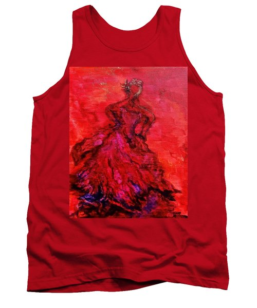 Red Lady Tank Top