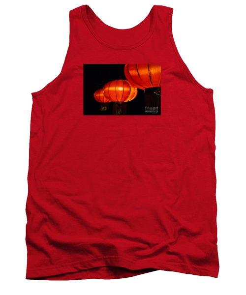 Red Lanterns Tank Top by Rebecca Davis