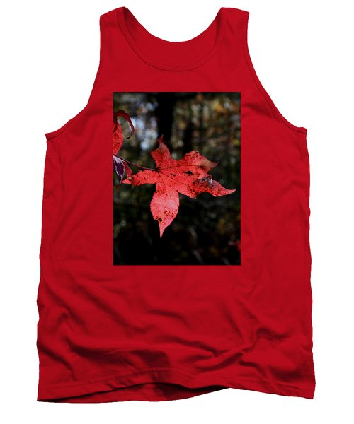 Tank Top featuring the photograph Red Leaf by Karen Harrison