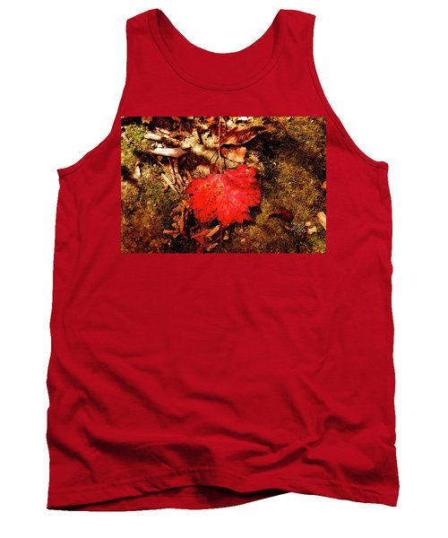 Tank Top featuring the photograph Red Leaf by Meta Gatschenberger
