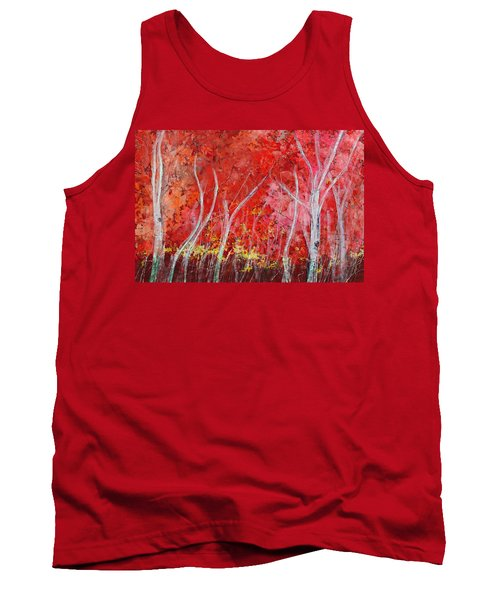 Crimson Leaves Tank Top