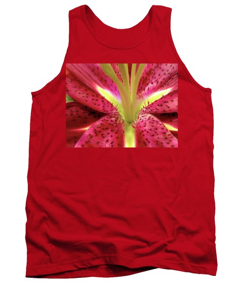 Red Lily Closeup Tank Top