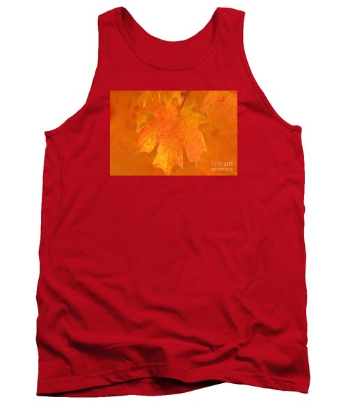 Red Maple Autumn Tank Top by Marion Johnson
