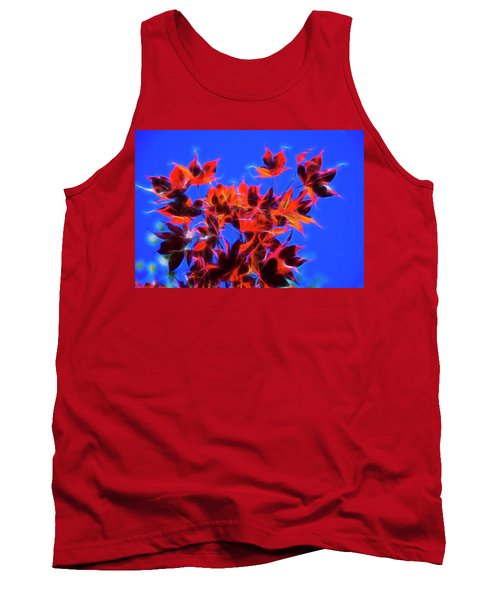 Red Maple Leaves Tank Top by Yulia Kazansky
