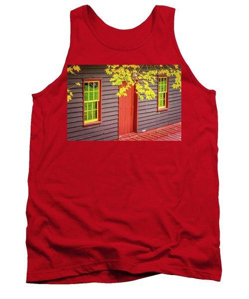 Red Mill Door In Fall Tank Top