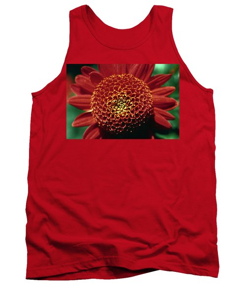 Red Mum Center Tank Top by Sally Weigand