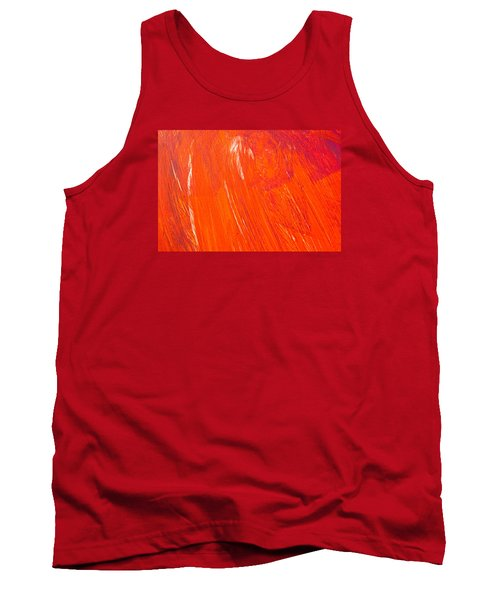 Red Paint Tank Top