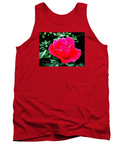 Tank Top featuring the photograph Red-pink Rose by Sadie Reneau