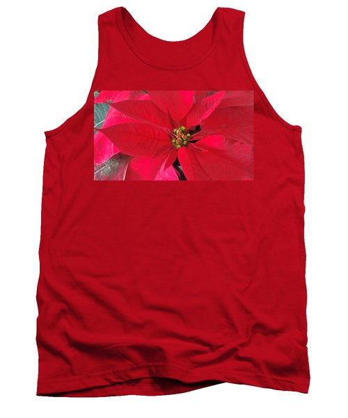 Red Poinsettia Tank Top