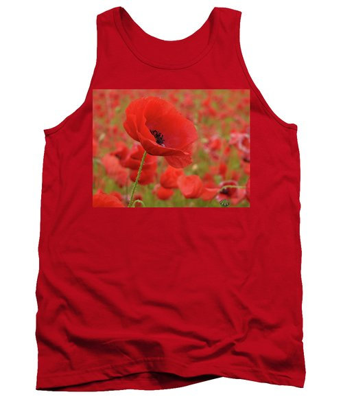 Red Poppies 3 Tank Top