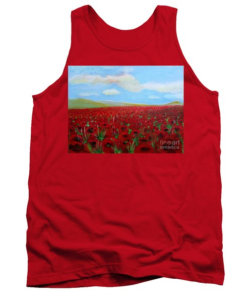 Red Poppies In Remembrance Tank Top