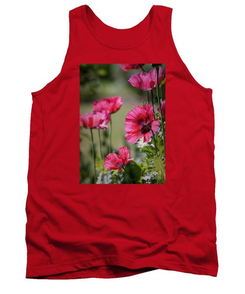 Red Poppies Tank Top by Lisa L Silva