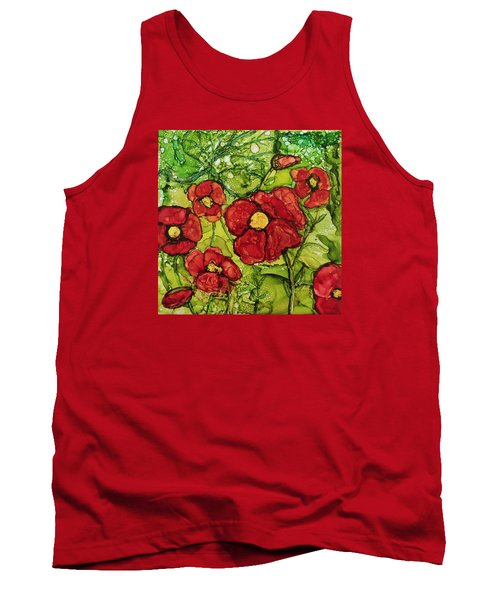 Tank Top featuring the painting Red Poppies by Suzanne Canner