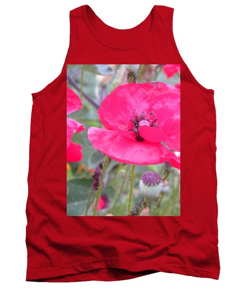 Red Poppy Tank Top