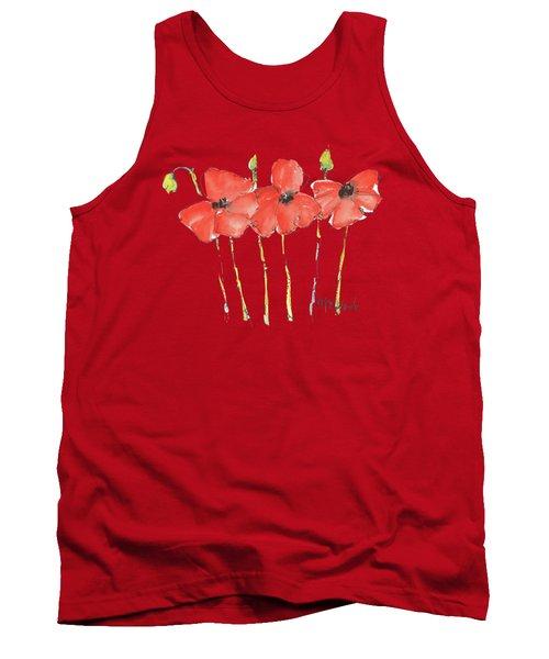 Red Poppy Play Tank Top