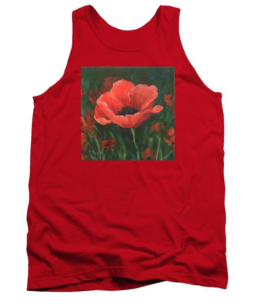 Red Poppy Tank Top by Torrie Smiley