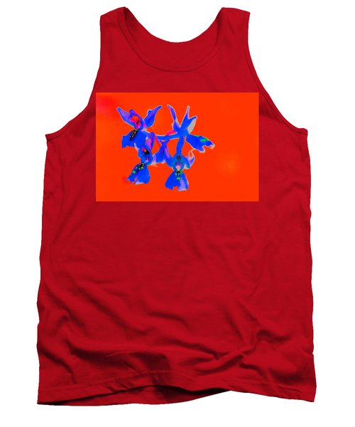 Red Provence Orchid Tank Top by Richard Patmore