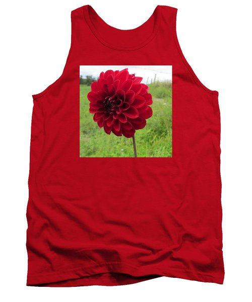 Tank Top featuring the photograph Red, Red, Red by Jeanette Oberholtzer