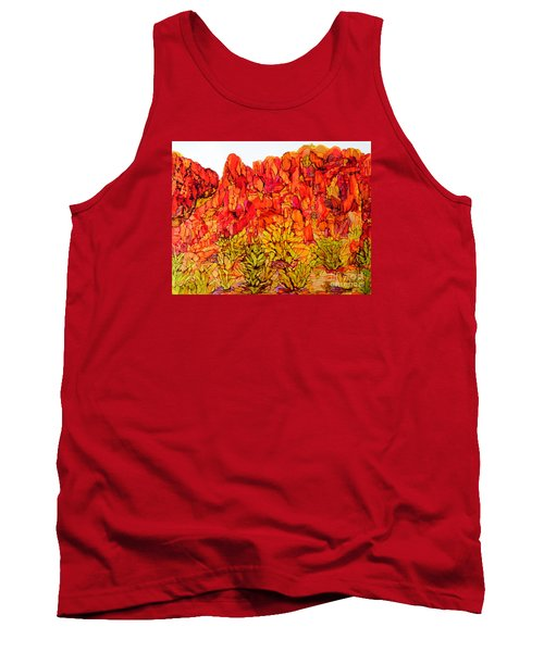 Red Rock Canyon Veiw From The Loop Tank Top by Vicki  Housel