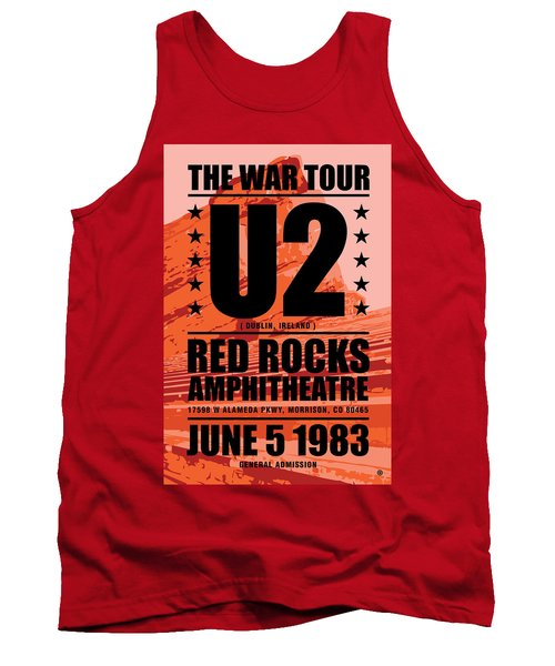 Red Rock Concert Tank Top by Gary Grayson