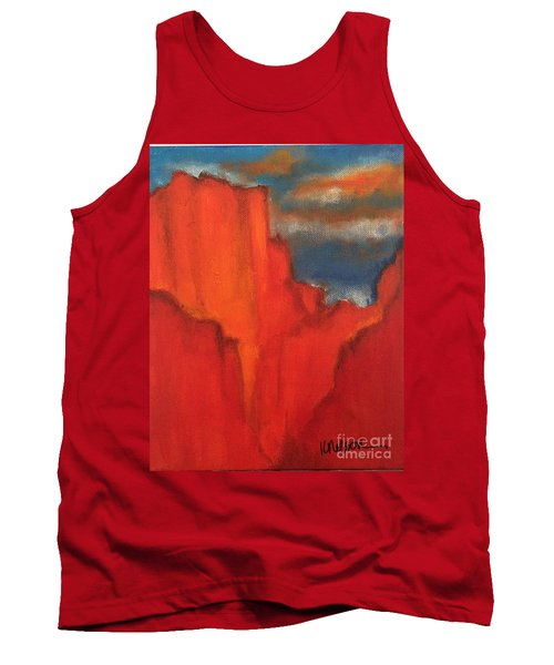 Tank Top featuring the painting Red Rocks by Kim Nelson