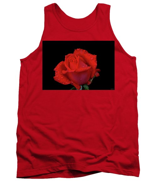 Tank Top featuring the photograph Red Rose 013 by George Bostian
