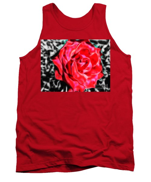 Red Rose Fractal Tank Top