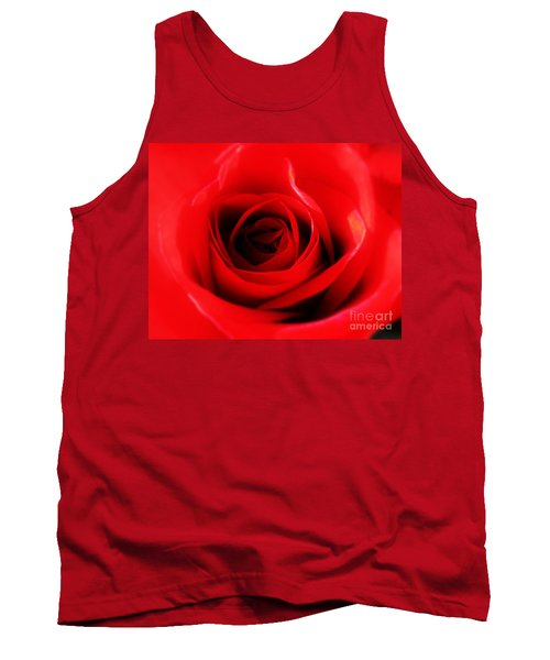 Tank Top featuring the photograph Red Rose by Nina Ficur Feenan