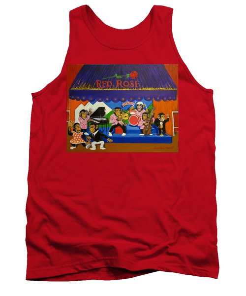 Red Rose Tea Chimpanzees Tank Top