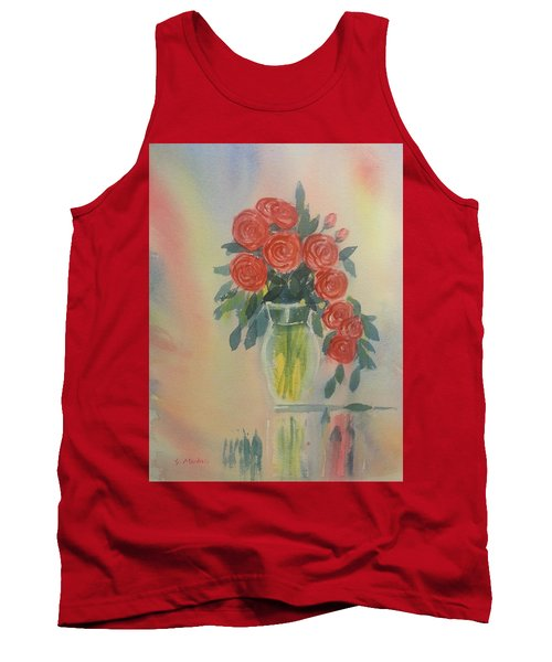 Red Roses For My Valentine Tank Top