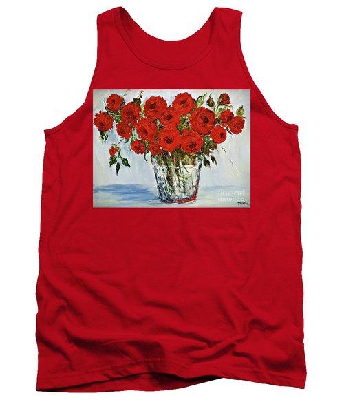 Red Roses Memories Tank Top