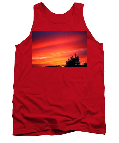 Tank Top featuring the photograph Red Skies At Night  by Nick Gustafson