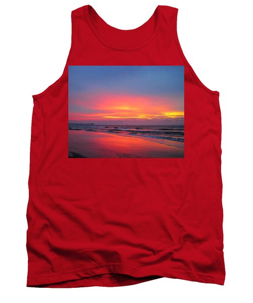 Red Sky At Morning Tank Top by Betty Buller Whitehead