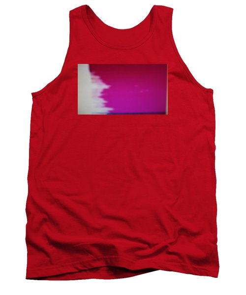 Tank Top featuring the painting Red Sky by Don Koester