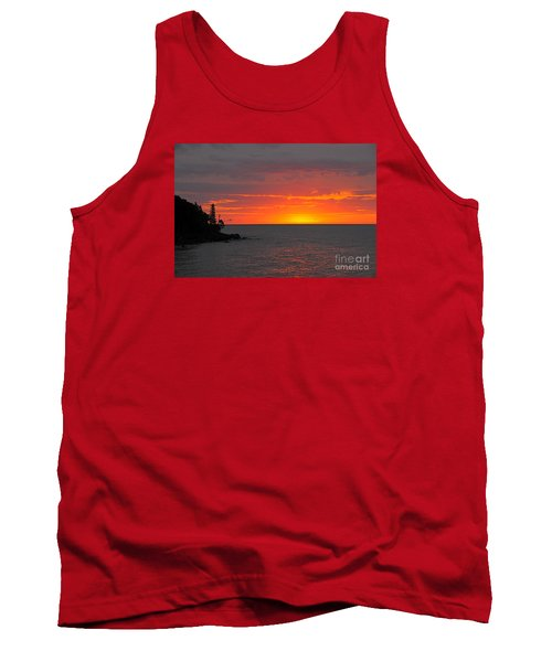 Tank Top featuring the photograph Red Sky In Morning by Sandra Updyke