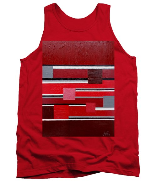 Red Square Tank Top by Tara Hutton