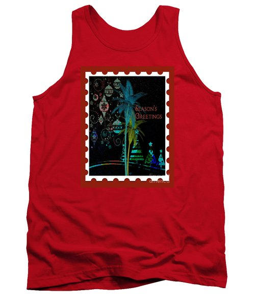 Tank Top featuring the digital art Red Stamp by Megan Dirsa-DuBois