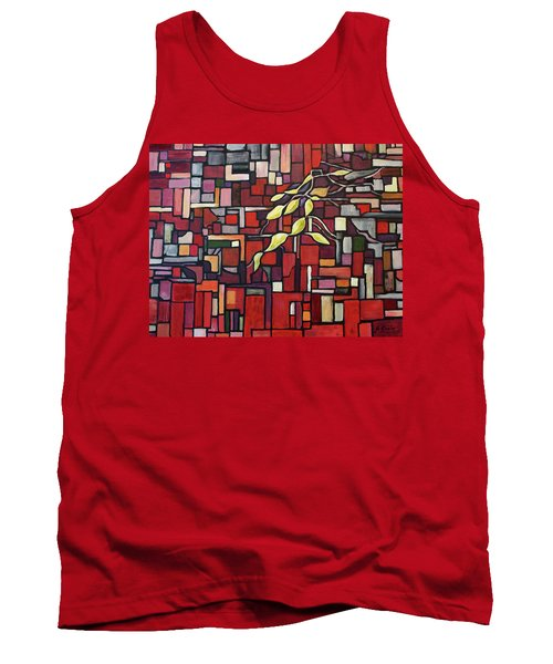 Tank Top featuring the painting Red Tango by Joanne Smoley