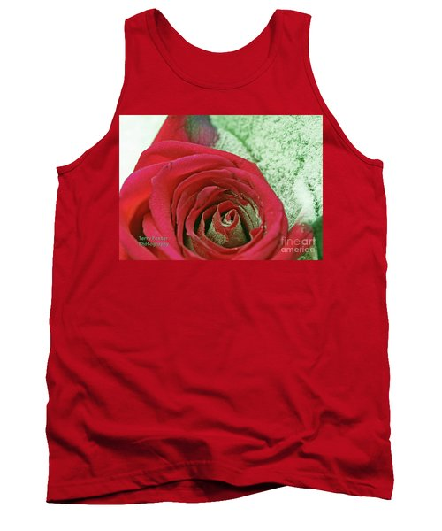 Tank Top featuring the digital art Red by Terry Foster