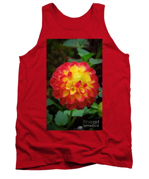 Red Tipped Petals Tank Top